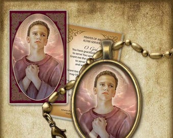 St. Tarcisius Pendant and Holy Card GIFT SET #7167