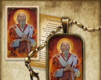 St. Polycarp Pendant and Holy Card GIFT SET #7239