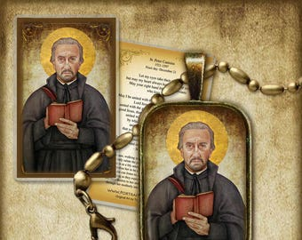 St. Peter Canisius Pendant and Holy Card GIFT SET #7282