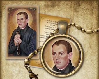 St. John Berchmans Pendant and Holy Card GIFT SET #7196
