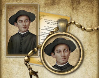Bl. Rolando Rivi Pendant and Holy Card GIFT SET #7328