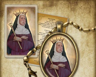 St. Matilda Pendant and Holy Card GIFT SET #7242