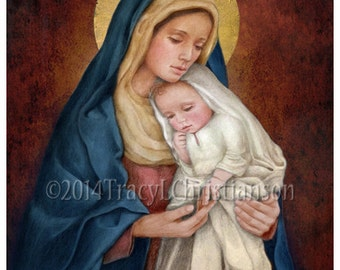 blessed virgin mary etsy