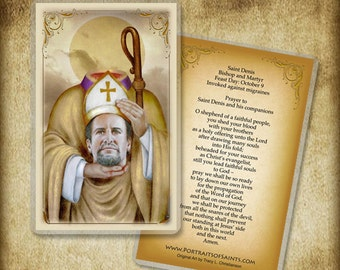 St  Bernardine of Siena Prayer Card | Etsy