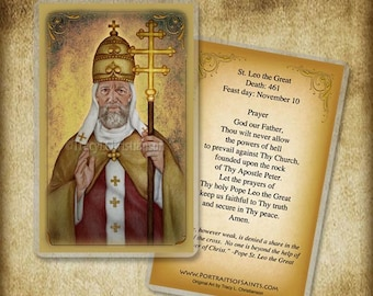 St. Leo the Great Holy Card, Doctor of the Church