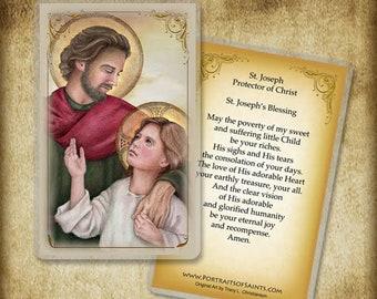 St. Joseph, Protector of Christ Holy Card, Prayer Card