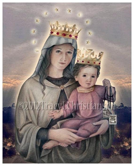 Nuestra Señora del Monte Carmelo Impresión Católica de Bellas | Etsy
