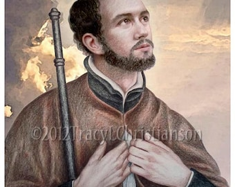 St. Francis Xavier Art Print Catholic Patron Saint