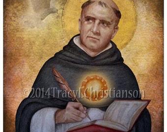 St Thomas Aquinas Art Print, Catholic Patron Saint of students, etc. #4173