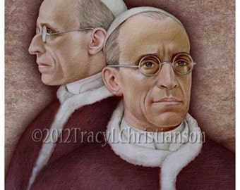 Venerable Pope Pius XII Art Print, Catholic #4311