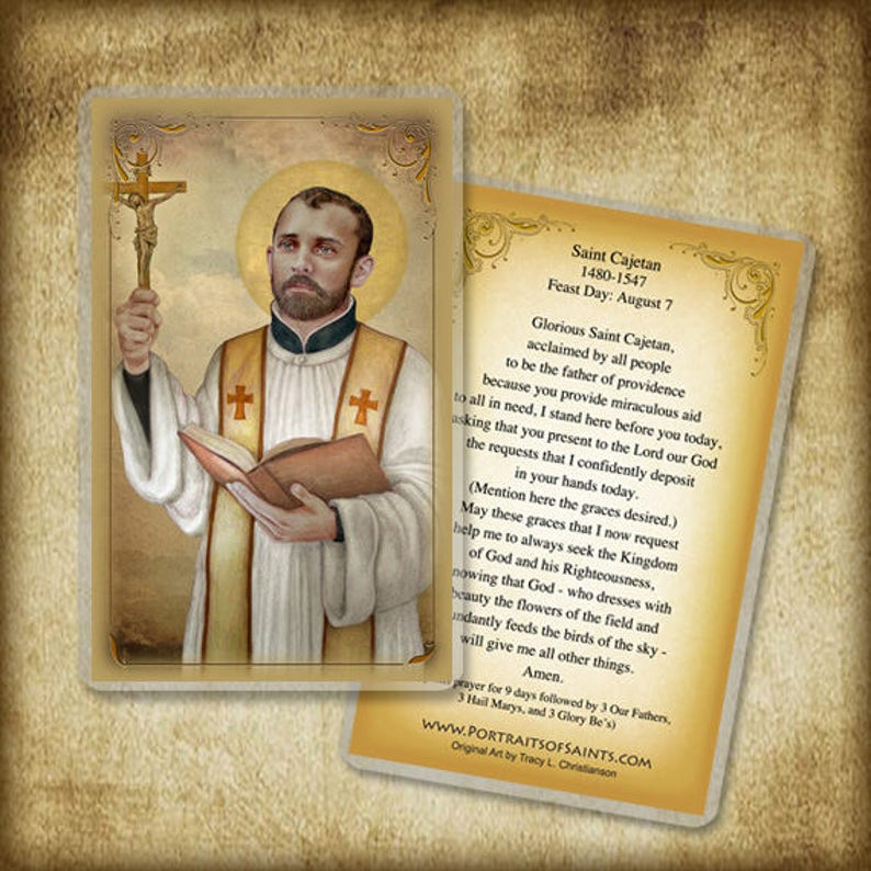 St  Cajetan Prayer Card