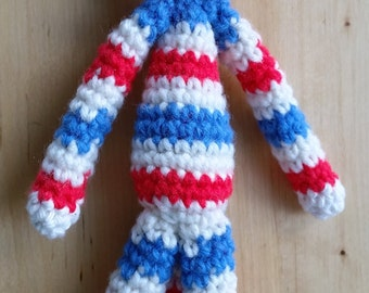 Crochet Monkey with red bow-tie