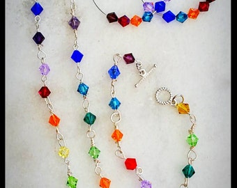 Rainbow jewelry set