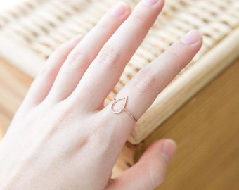 Honeycomb stackable ring gift idea Gold and Bridal Simple Hexagon Ring Modern Minimalist Rose Gold Dainty Geometric Jewelry,wedding gift