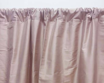 Blush Pink Curtains Silk Dupioni Dusty Rose Solid Curtain Panels Ds Pure 1 Panel 52x84 Inch Slcur02