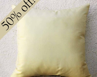 """Staw Color Silk Dupioni Pillow Cover, Throw Pillow Cover, Cushion Cover, Decorative Pillow, Pure Silk,  15 x 15  - """"HALF PRICE SALE"""" - s26F"""