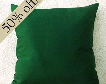 "Bottle Green Silk Dupioni Pillow Cover, silk pillow, green pillow, decorative pillow, throw pillow, cushion 15 x 15 - ""HALF PRICE""- s18F"