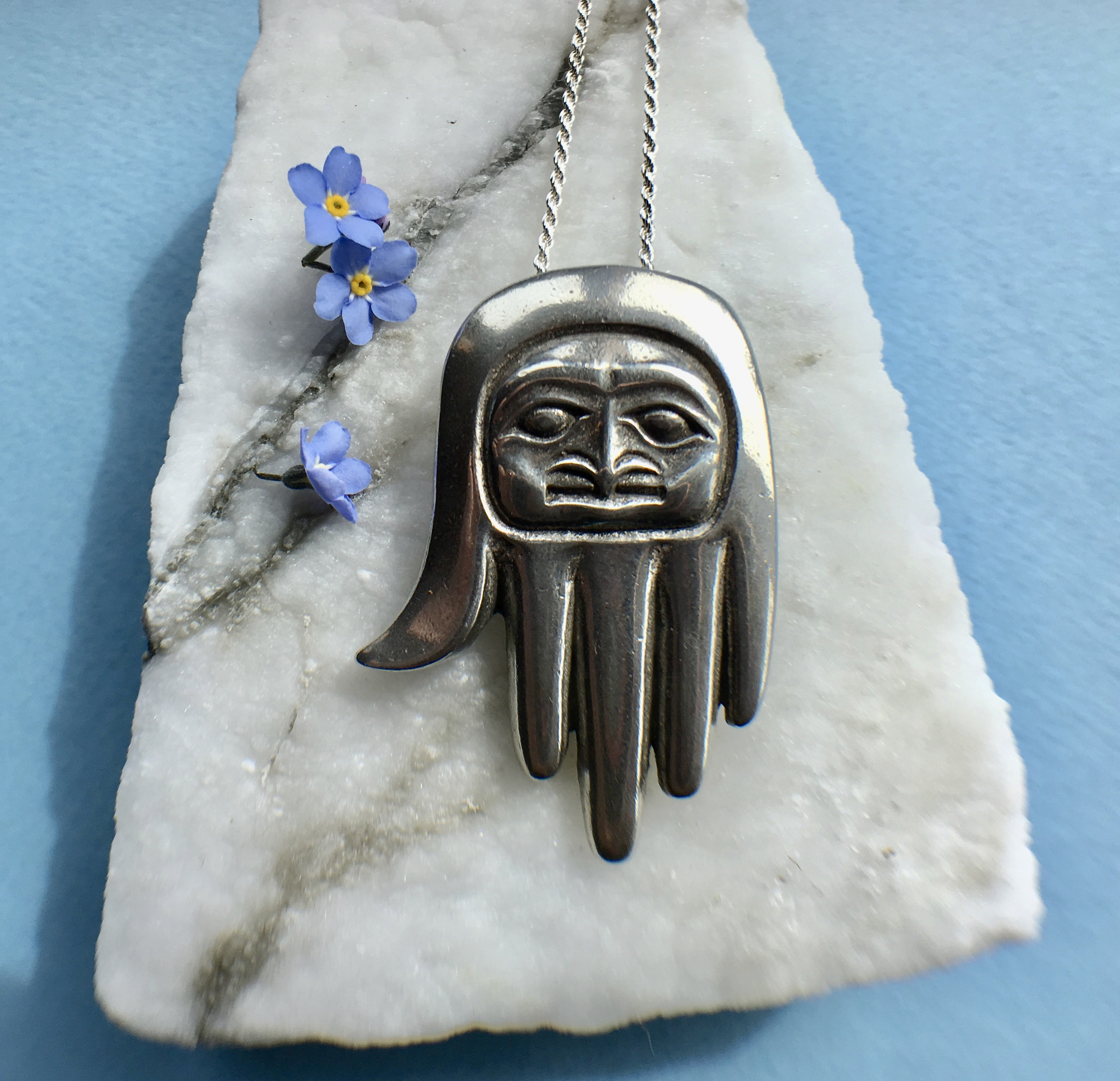 Debi Knight Kenned Silver Healing Hand Necklace