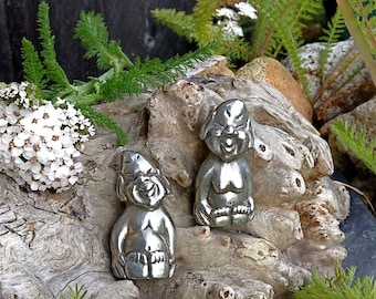 Alaskan Billiken, Traditional Billiken, Good Luck Charm,  Billiken Figurine, Made In Alaska, Lucky Billiken, Pewter Figurine