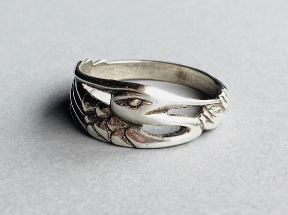 Heron Ring, Alaskan Heron Ring, Silver Heron Ring, Heron Jewelry, Great Blue Heron, Made In Alaska, Heron Totem, Heron Talisman
