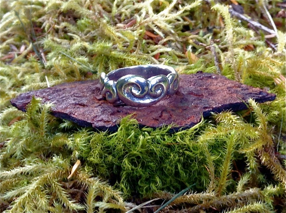 Alaskan Waves Ring, Nautical Ring, Alaskan Silver Ring, Silver Nautical Ring, Ocean Ring, Made In Alaska, AK Gift