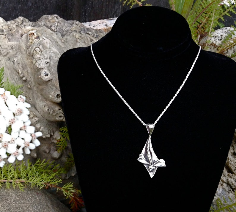 Silver Dragonfly Amulet Necklace Made in Alaska cast in image 0