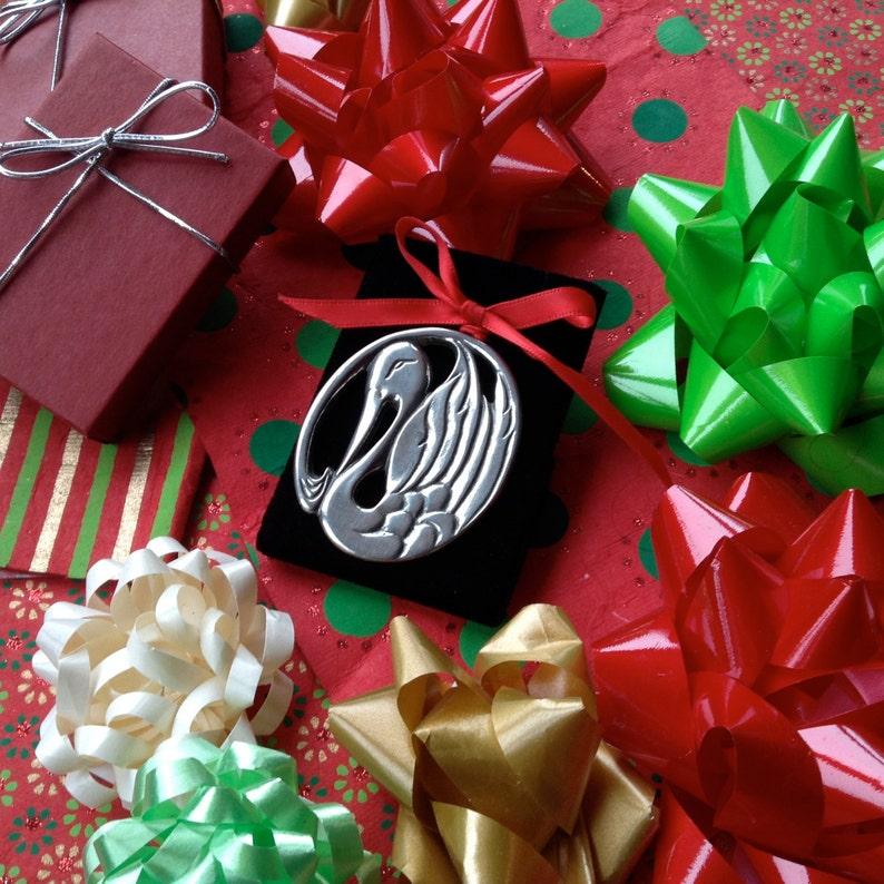 Swan Ornament Christmas Ornament Holiday Ornament Swan Art image 0