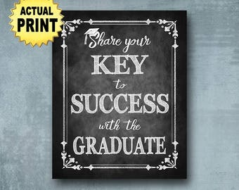 graduation advice sign graduation key to success class of 2018 graduation sign chalkboard graduation decor grad party decorations sign