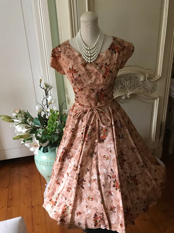 1950s vintage dress full cocktail cocktail dress
