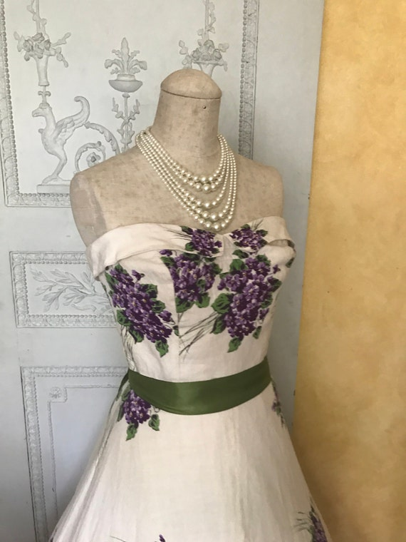 1950s Wedding Dress Vintage Spring Day Dress Tea … - image 3