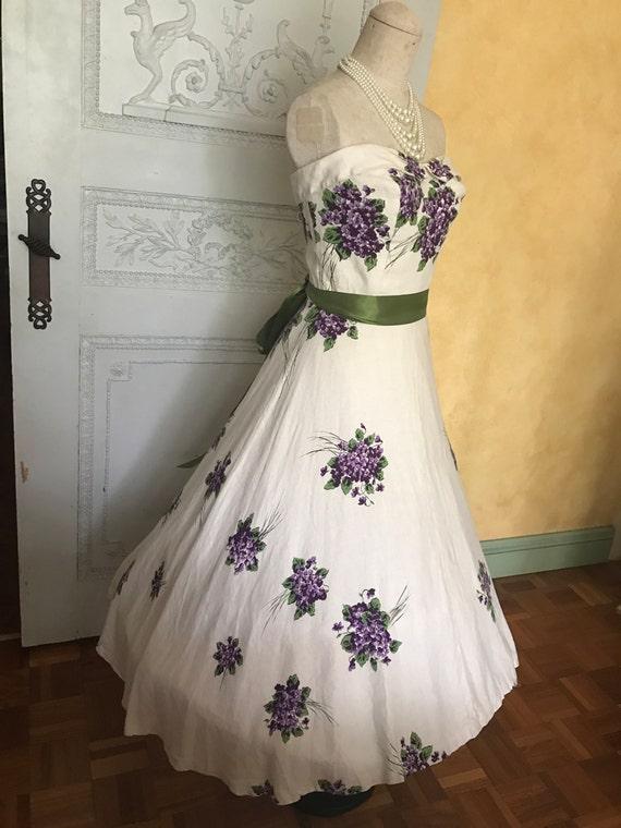 1950s Wedding Dress Vintage Spring Day Dress Tea … - image 1