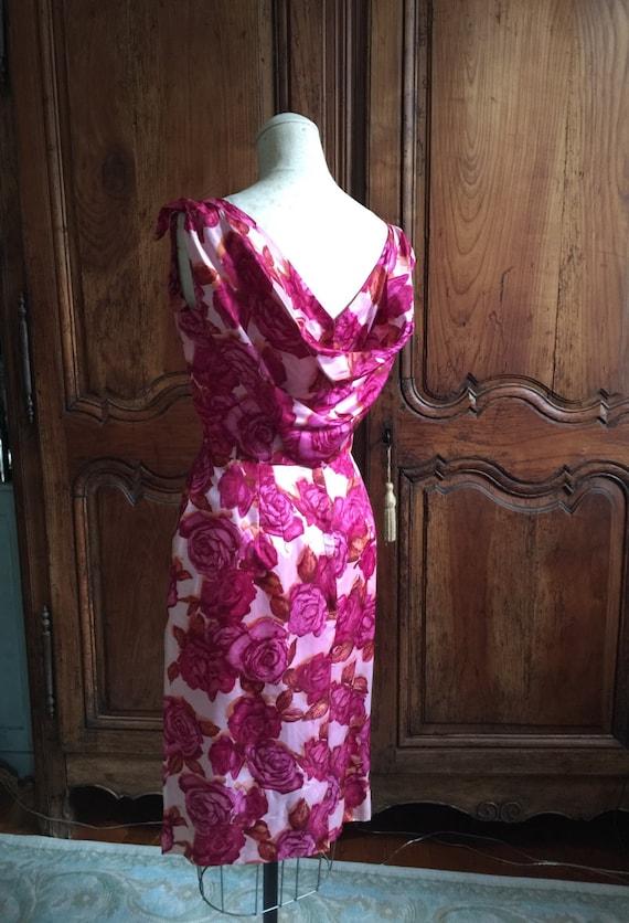 1950s Vintage Party Dress / 50s Vintage Floral 50s