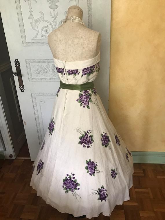 1950s Wedding Dress Vintage Spring Day Dress Tea … - image 5
