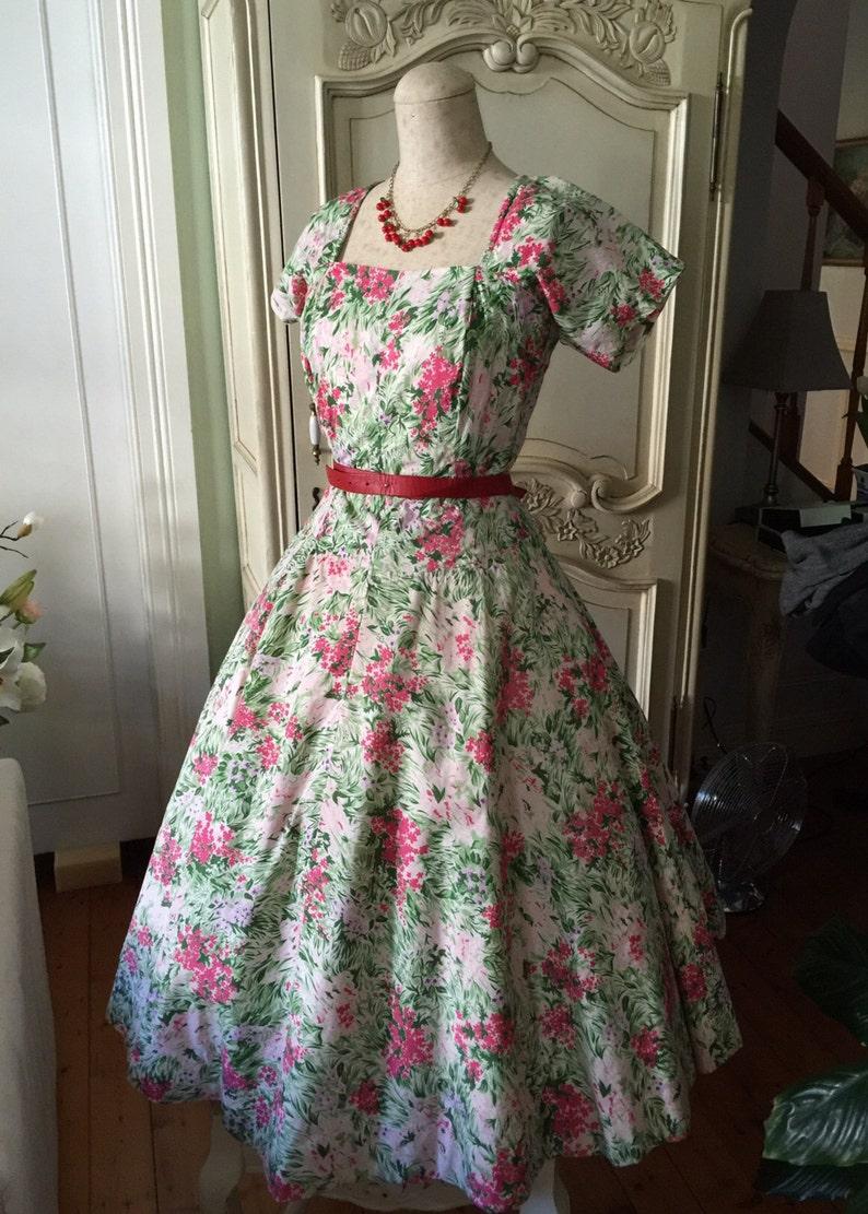 Party RoteEtsy Jahre 50er Vintage 1950er Grün Kleid USzMpV