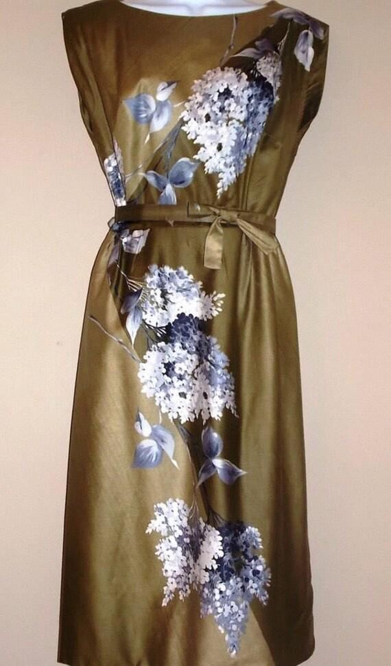 1950s Vintage Dress Scuderi Wiggle cocktail dress
