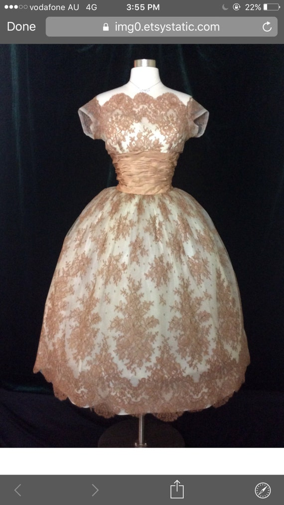 1950's origInal vintage dress