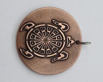Pendant Copper - Turtle (H216)
