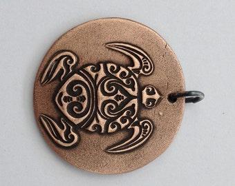 Pendant Copper - Turtle (H215)