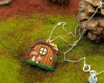 Fairy Door - Amanita Muscaria - Whimsical - Woodland - Birds Nest Fungi - Sterling Silver