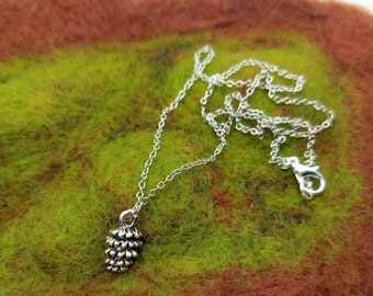 Pinecone Dainty Necklace - Woodland - Cottagecore - Mori Girl - Nature
