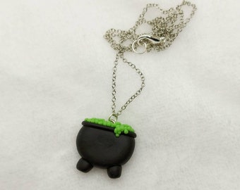Cauldron Necklace - Spoopy - Glow In The Dark - Witchy - Halloween