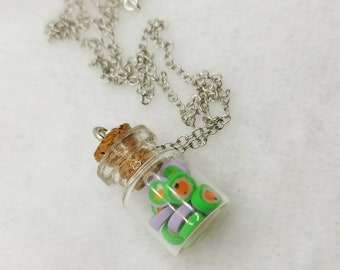 Spoopy Candy Jar Necklace - Halloween - Kawaii Clay - Mini Sweets