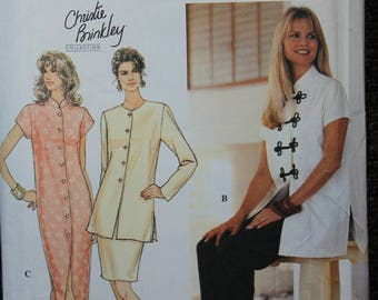 Simplicity 8919 sewing  pattern, Christie Brinkley Collection, Misses Asian Inspired Dress Or Top, Pants And Skirt Pattern, Size 10-12-14,