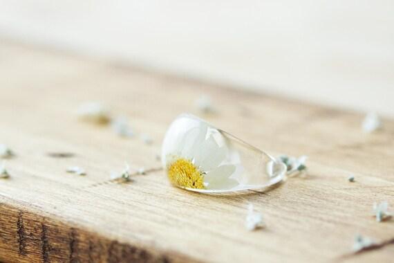 Lk /_ Lucky Marguerite Fleur Floral Bague Doigt Femmes Fiançailles Mariage Bijoux