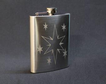 Twilight Sparkle 8oz. Etched Flask