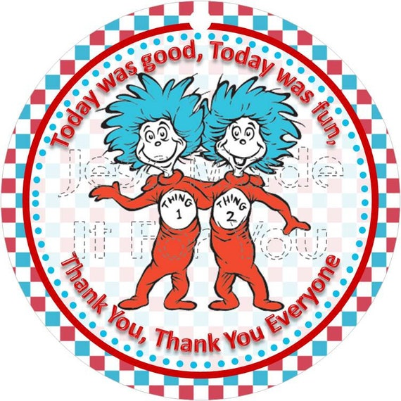 picture about Thing 1 and Thing 2 Logo Printable known as Point 1 Factor 2 Social gathering Choose Tags Do-it-yourself, Printable Electronic History