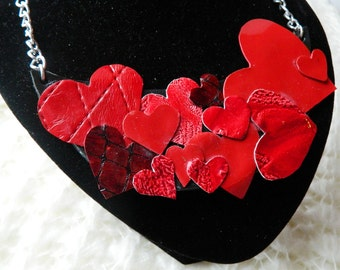 Valentine's Day leather necklace