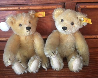 Antique Steiff Teddy Bears, Varied Sizes and Original Tags ~ PRICED FOR COLLECTION