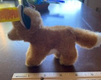 Steiff Fuzzy Fox, Excellent Condition, Rare with Original Tags 1465/10