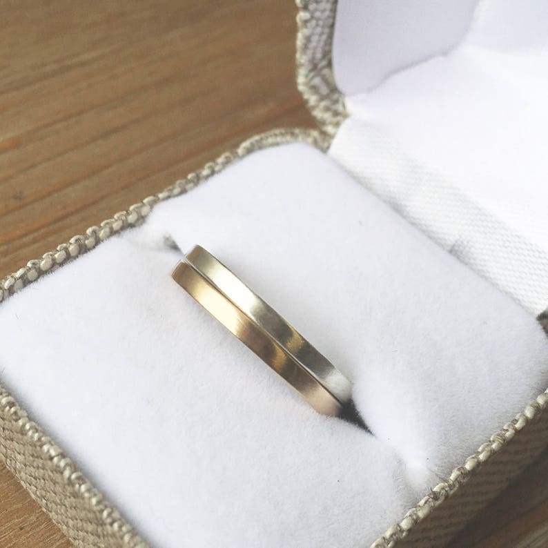Thin Gold Ring Gold Wedding Band Wedding Ring solid 14K Gold Woman/'s Ring Minimalist Gold Band Ring Gift for Her handmade eco friendly